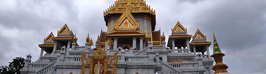 Observez le Wat à Thaïlande